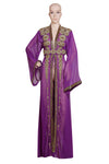 MAGENTA EMBROIDERED OVER COAT HAND MADE JACKET SEQUINS CARDIGAN ABAYA KURTI