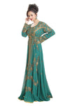 Oriental Robe Hand Embroidered Ball Gown - Maxim Creation