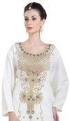 Long Farasha Hand Embroidered Bollywood Studded Dress 6638