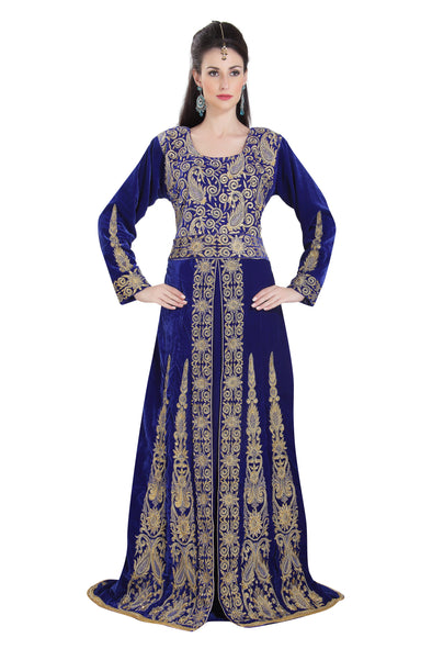 ROYAL BALL GOWN IN VELVET WITH HAND WORK - Maxim Creation