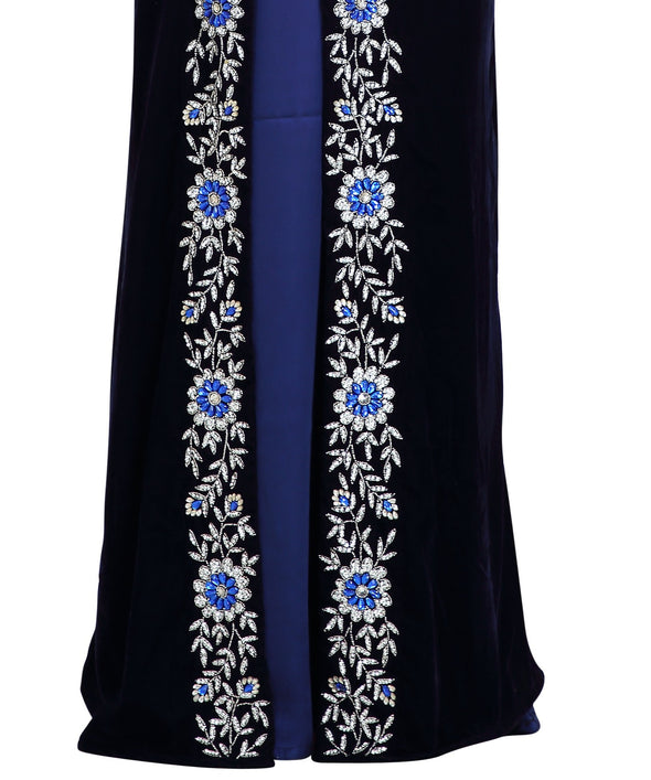 Traditional Arabian Takchita Caftan With Floral Embroidered - Maxim Creation