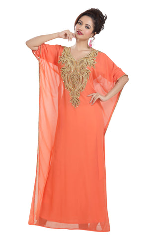Dubai Designer Farasha Maxi Dress 6883