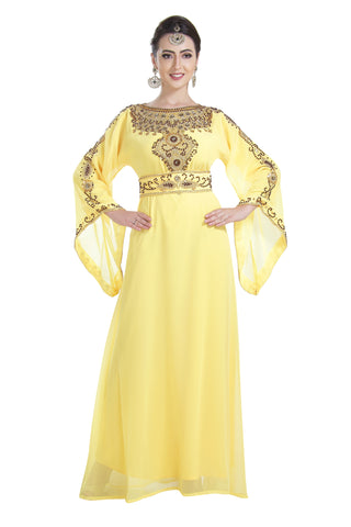 Jalabiya Jilbab Walima Gown Maxi Dress 7036