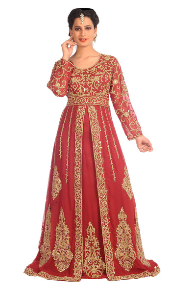 Jasmine Designer Royal Swedish Wedding Gown Traditional Arabic Dress - Maxim Creation