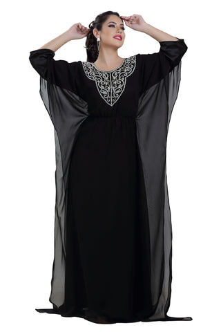 HENNA PARTY DRESS DESIGNER ABAYA 7266