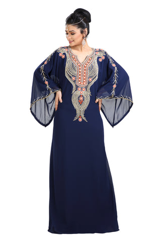 TEA PARTY EVENING DRESS PALESTINIAN KAFTAN 7701
