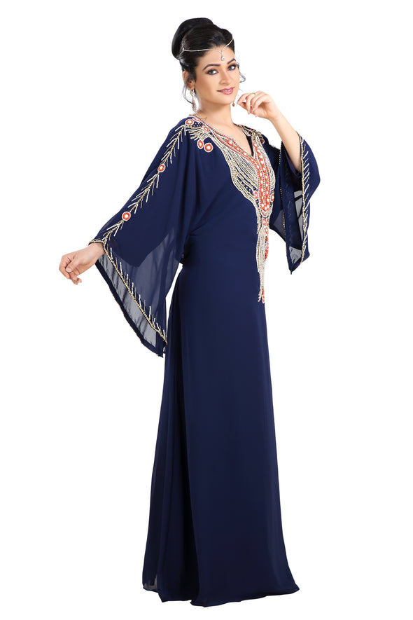 TEA PARTY EVENING DRESS PALESTINIAN KAFTAN - Maxim Creation