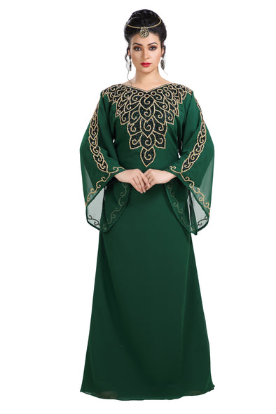 Traditional Kaftan Arabic Maxi Gown - Maxim Creation