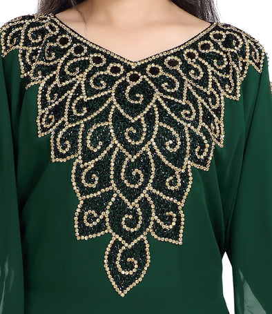 TRADITIONAL ALGERIAN FARASHA EVENING DRESS - Maxim Creation