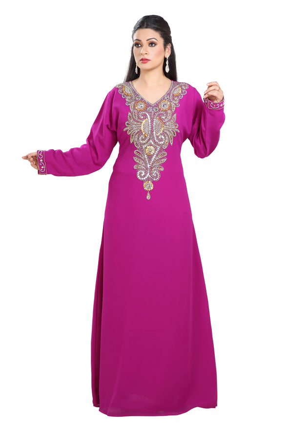 TRADITIONAL FARASHA MAXI DRESS LAWN GOWN - Maxim Creation