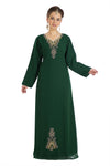 Straight Maxi Long Night Gown Abaya Kaftan