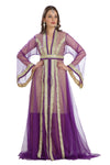 Victorian Princess Gown Royal Wedding Robe Purple Net /Tul 3 Piece Set - Maxim Creation
