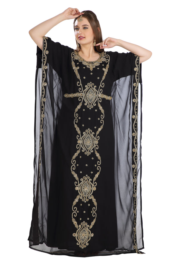Traditional Abaya Long Dubai Farasha Persian Maxi Takchita 7837