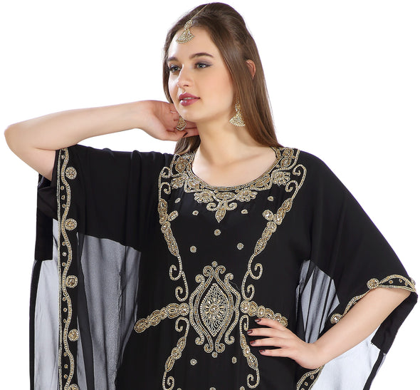 Traditional Abaya Long Dubai Farasha Persian Maxi Takchita - Maxim Creation