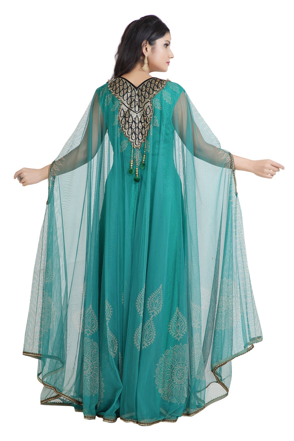 KHALEEJI MAXI DRESS ARABIC JABODAR CAFTAN - Maxim Creation