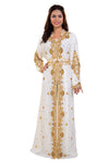 3 Piece Ball Gown Golden Bling Hand Embroidery with Crystals and Rhinestones - Maxim Creation
