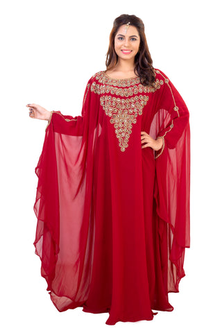 Designer Dubai Kaftan by Maxim Creation with Luxe Crystals