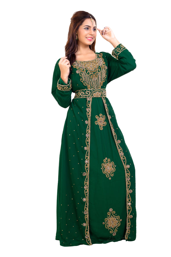 TRADITIONAL ALGERIAN KAFTAN MAXI DRESS 7903 - Maxim Creation