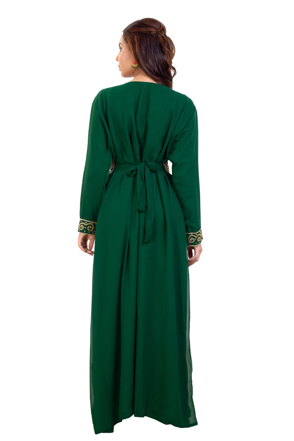 TRADITIONAL ALGERIAN KAFTAN MAXI DRESS 7903