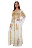 Bell Sleeve Wedding Suit for Women with Golden Sequins , Crystals and Rhinestones 7905