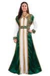 Emerald Green Wedding Gown 2piece Satin Marriage Dress for Women