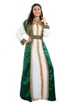 Emerald Green Wedding Gown 3 piece Satin Marriage Dress for Women - Maxim Creation