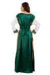 Emerald Green Wedding Gown 3 piece Satin Marriage Dress for Women 7908