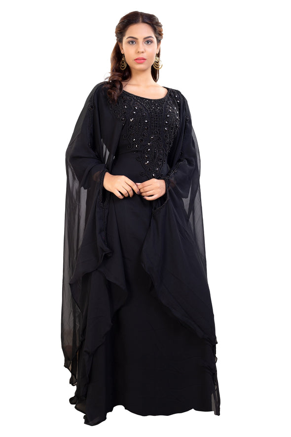 DUBAI TRADITIONAL ABAYA MAXI DRESS - Maxim Creation