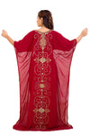 Dubai Kaftan With Intricately Embroidered Back Side of the Maxi
