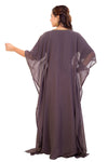 Embroidered Poncho Dress Boho Maxi Gown Short Sleeve Party Dress - Maxim Creation