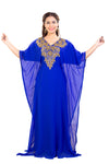 Dubai Farasha Kaftan Maxi with Rhinestones and Sequins
