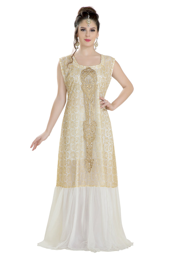 EMBROIDERED CHRISTIAN WEDDING DRESS JABODAR CAFTAN - Maxim Creation