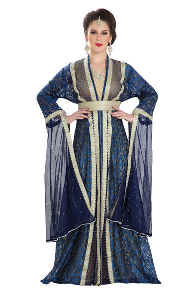 HENNA PARTY DRESS KHALEEJI THOBE CAFTAN - Maxim Creation