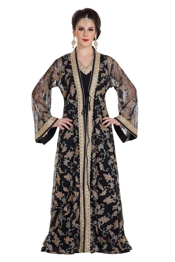 TRADITIONAL ARABIC THOBE WEDDING GOWN - Maxim Creation