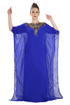 ROYAL BLUE JALABIYA MAXI DRESS - Maxim Creation