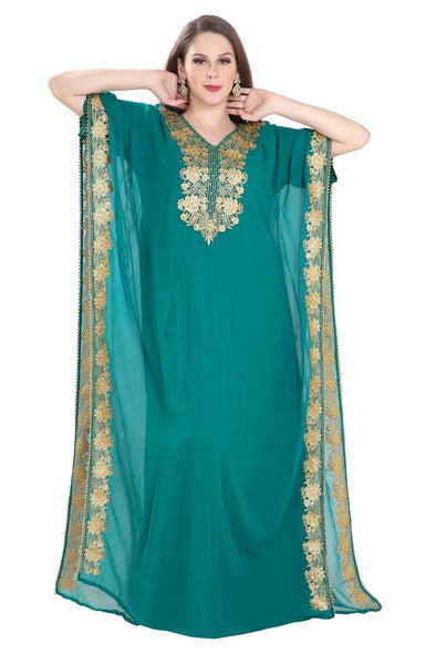 ANCIENT ARABIC GOWN FARASHA MAXI 7986