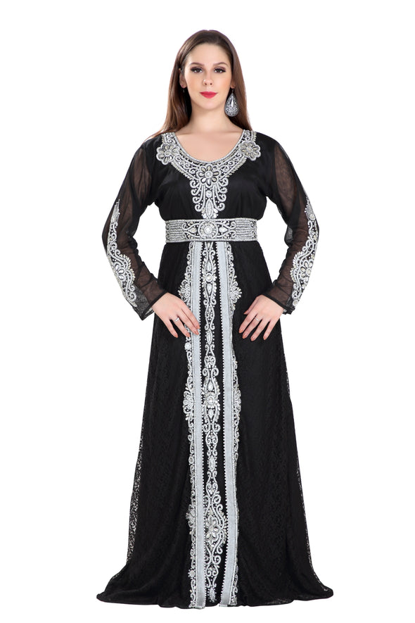 ANCIENT ARABIC ABAYA MAXI DRESS 7996