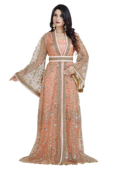 MEDIEVAL KHALEEJI THOBE JASMINE WEDDING DRESS 8014