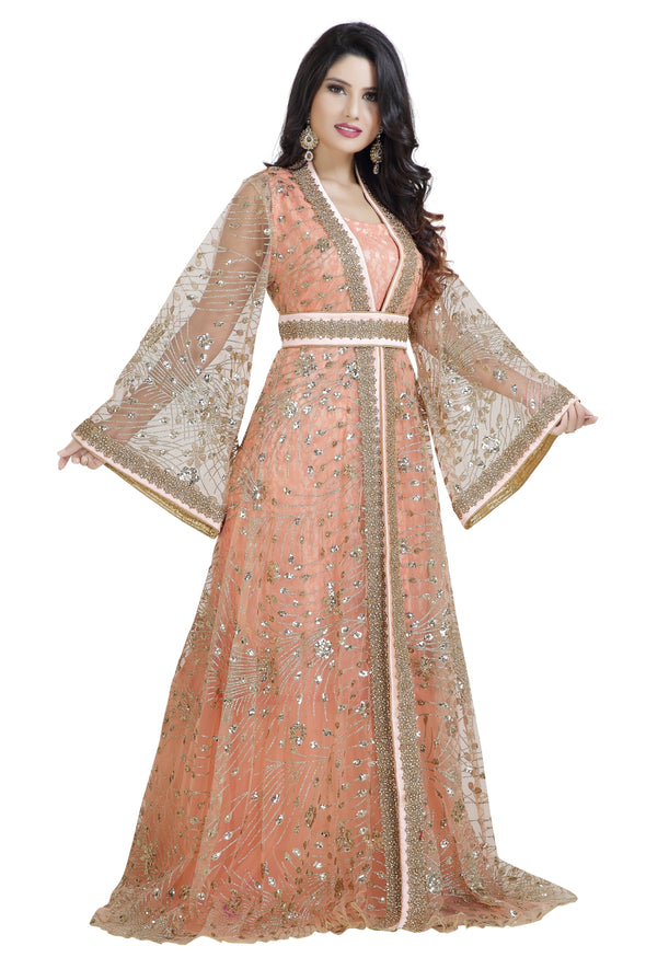 MEDIEVAL KHALEEJI THOBE JASMINE WEDDING DRESS - Maxim Creation