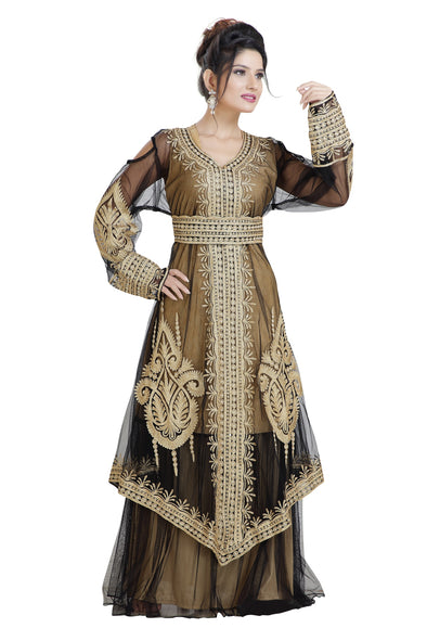 ARABIC WEDDING GOWN TRADITIONAL THOBE - Maxim Creation