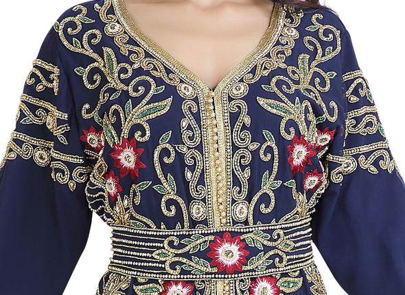 EMBROIDERED CHRISTIAN WEDDING DRESS JABODAR - Maxim Creation