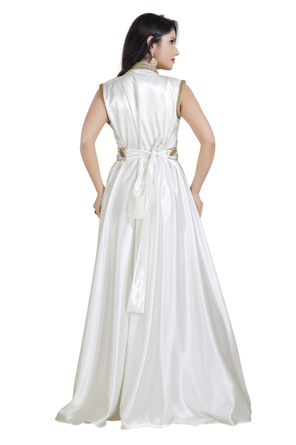 PEARL WHITE GOWN - Maxim Creation