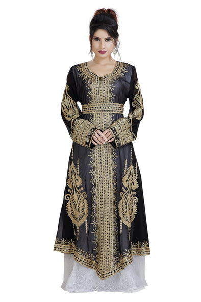KHALEEJI THOBE WEDDING DRESS AZTEC GOWN - Maxim Creation