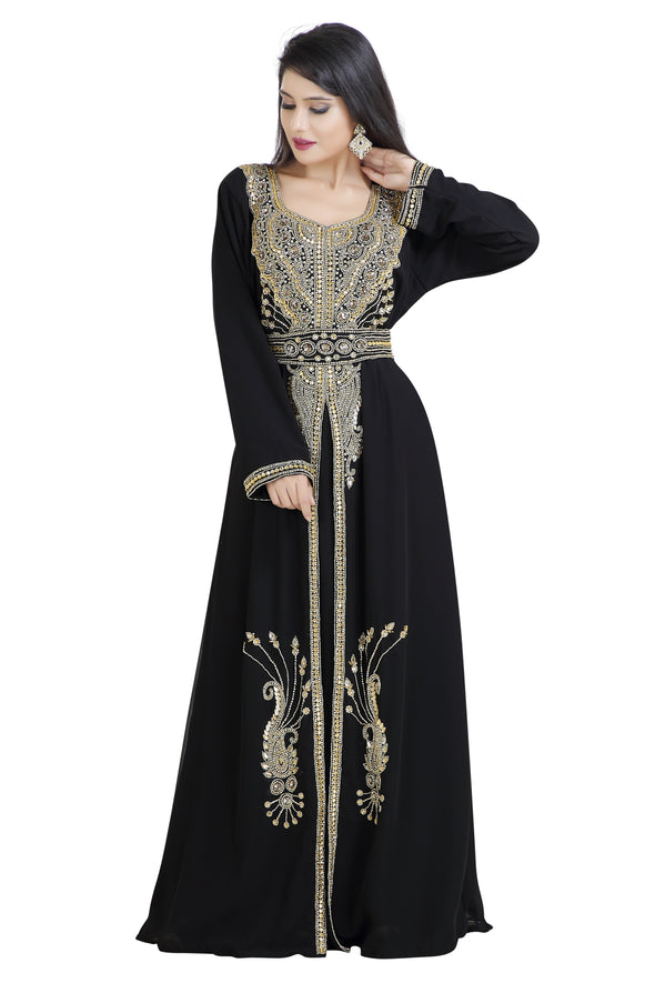 TRADITIONAL ALGERIAN KAFTAN ABAYA MAXI - Maxim Creation