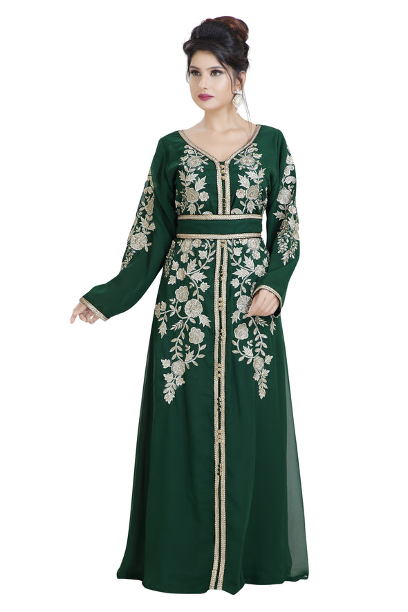 MOROCCAN TRADITIONAL WEAR MAXI DRESS 8035