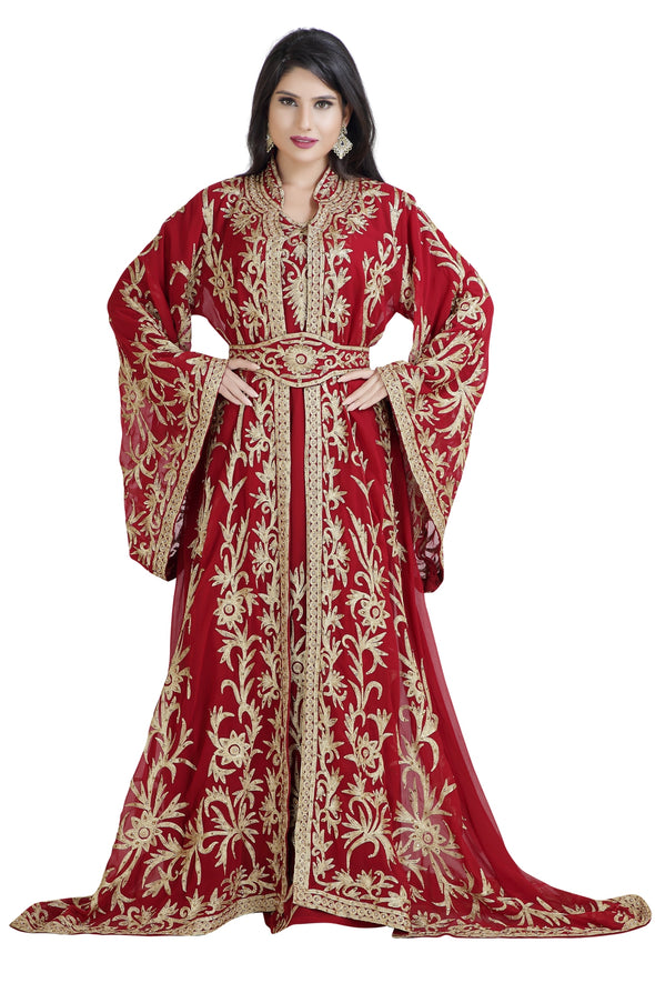 TRADITIONAL KHALEEJI THOBE WEDDING GOWN - Maxim Creation