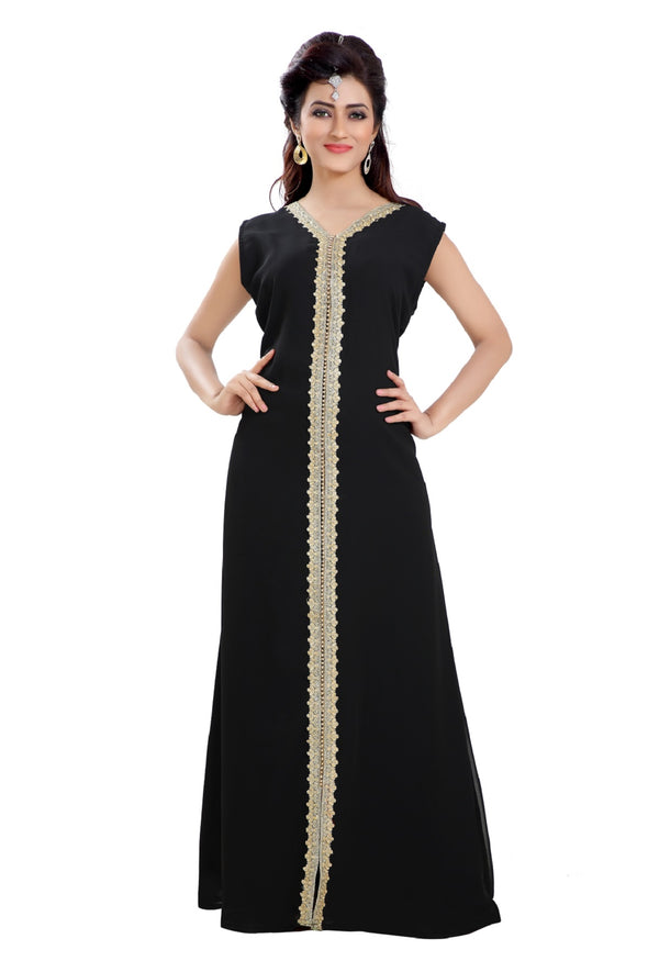 SIMPLE BLACK MAXI DRESS FOR DAILY USE - Maxim Creation