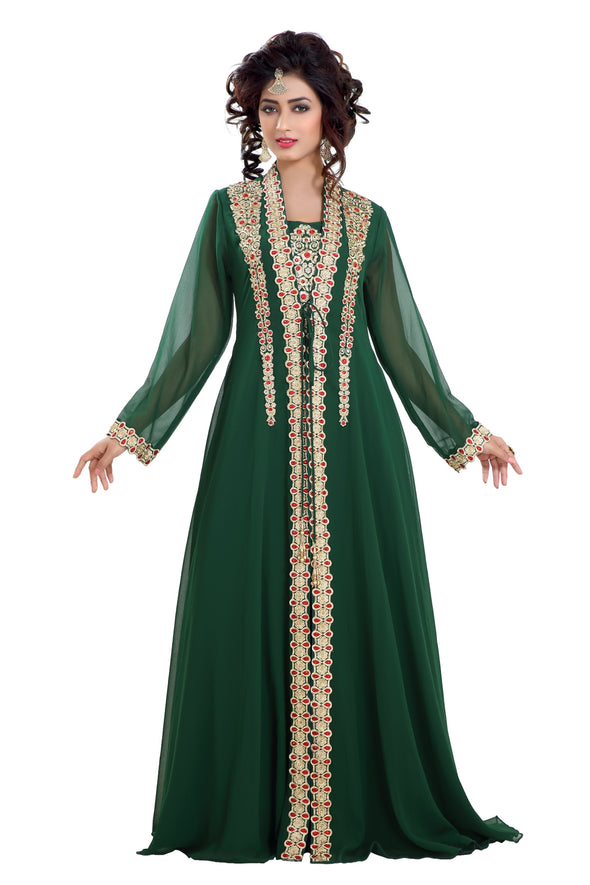 DUBAI TRADITIONAL MAXI DRESS ROBE JALABIYA - Maxim Creation
