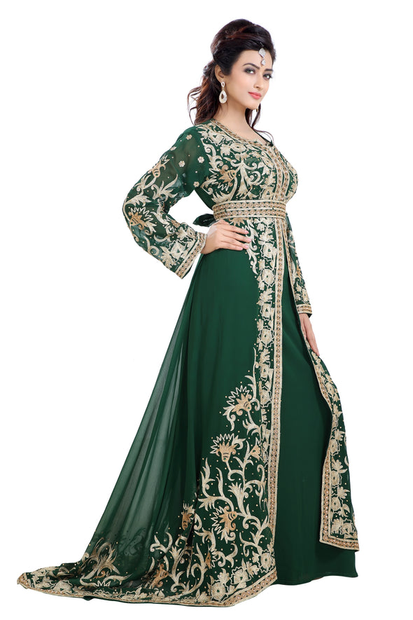 MOROCCAN WEDDING GOWN TRADITIONAL MAXI DRESS - Maxim Creation