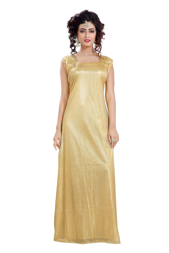 SOFT BEIGE MAXI DRESS EVENING GOWN - Maxim Creation